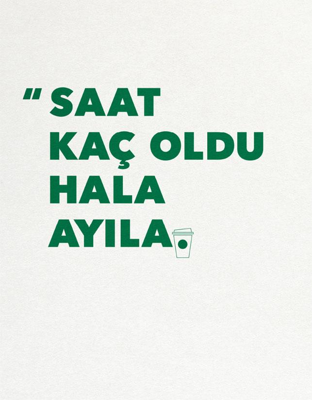 Saat Kaç Oldu Hala Ayılamadım - STARBUCKS-türkiyenin-reklamları