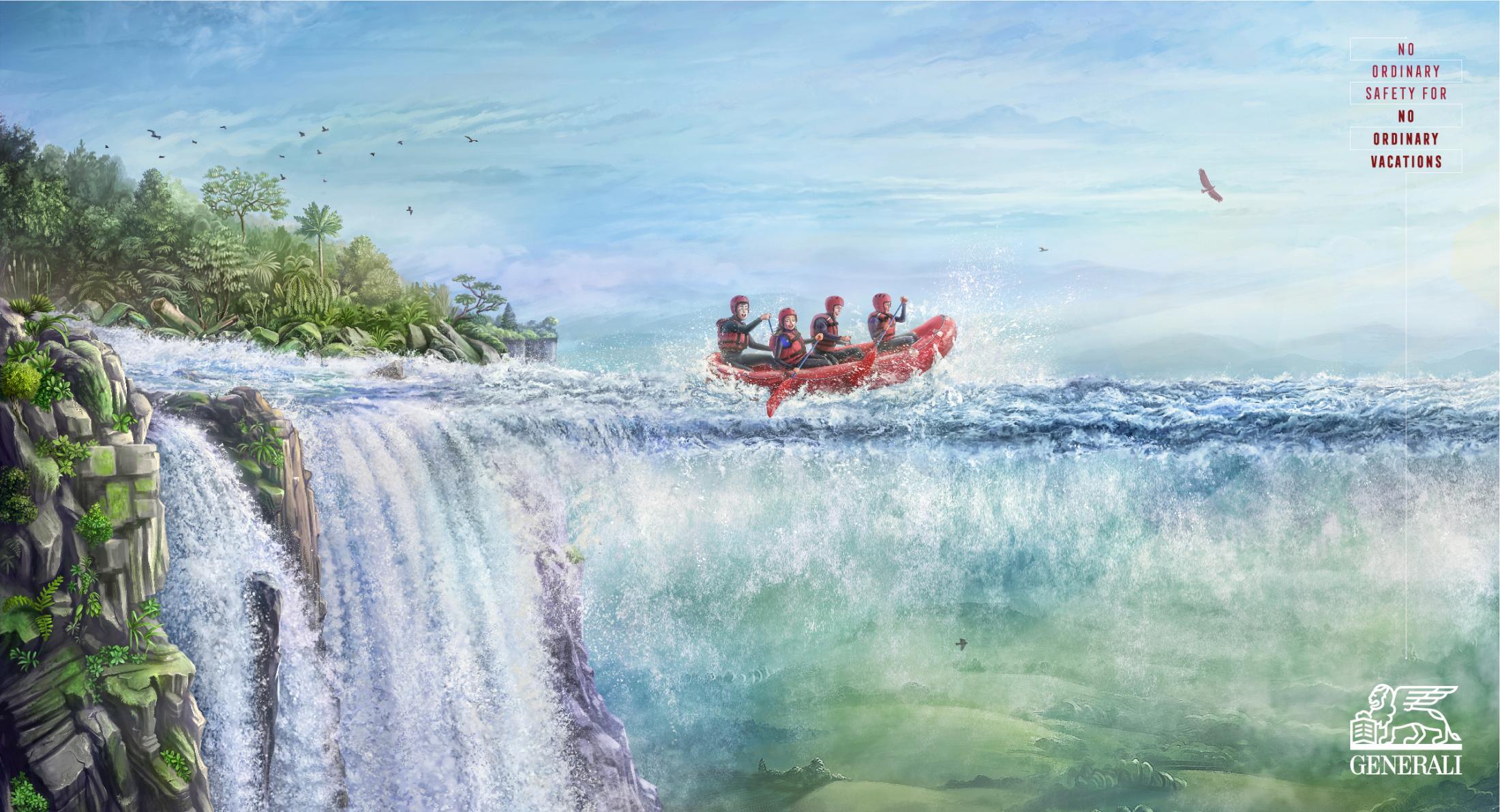 Sıradan Olmayan Tatil Sıradan Olmayan Güvenlik, Rafting - GENERALI-türkiyenin-reklamları